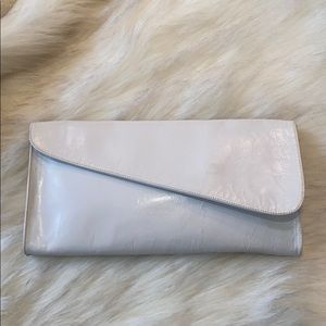 Vintage Clutch White Leather Made in Spain